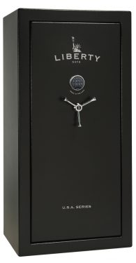Liberty USA 23 Gun Safe Textured Black/Chrome