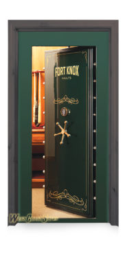 Fort Knox vault door in-swing